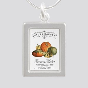 Modern vintage fall gourds and pumpkin Necklaces