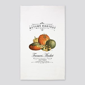 Modern vintage fall gourds and pumpkin Area Rug