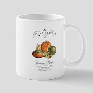 Modern vintage fall gourds and pumpkin Mugs