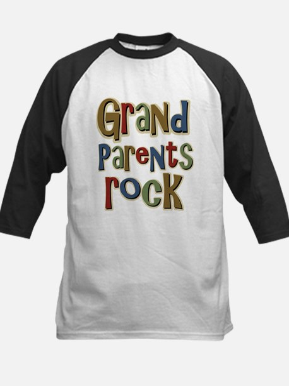 Grandparents Rock Day Holiday Kids Baseball Jersey