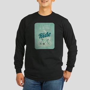 Vintage Retro Bicycle Backgrou Long Sleeve T-Shirt