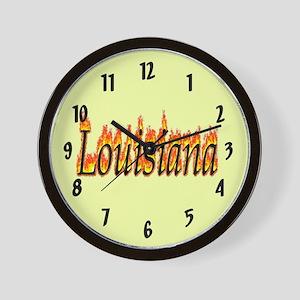Louisiana Flame Wall Clock