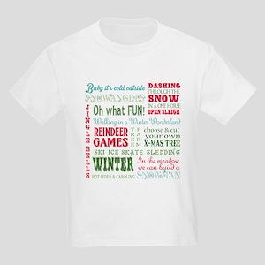 modern vintage christmas word collage T-Shirt