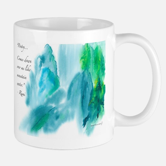 Rumi Tranquil Mountains Mugs