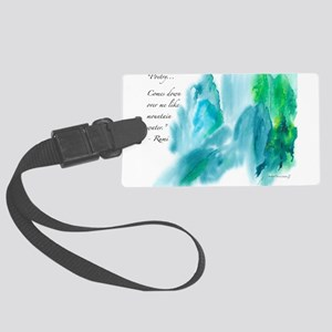 Rumi Tranquil Mountains Luggage Tag