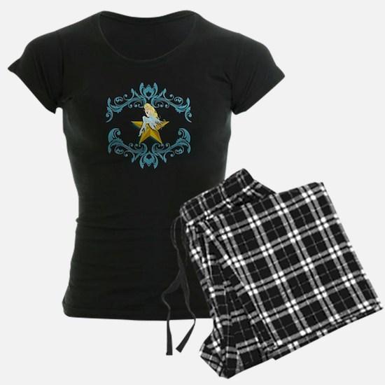 Blue Fairy on Yellow Star Pajamas