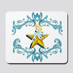 Blue Fairy on Yellow Star Mousepad