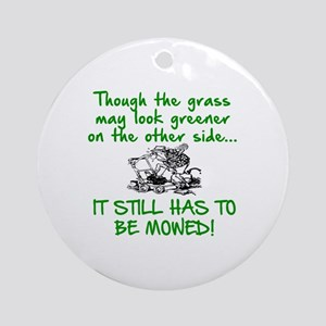 SENIOR MOMENTS - THOUGH THE GRASS M Round Ornament