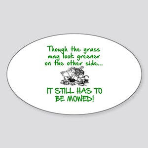 SENIOR MOMENTS - THOUGH THE GRASS M Sticker (Oval)