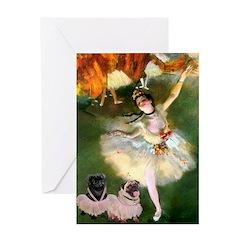 Dancer / 2 Pugs Greeting Card
