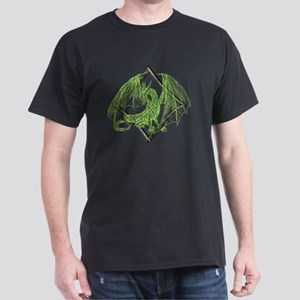 Green Dragon on Diamond Dark T-Shirt