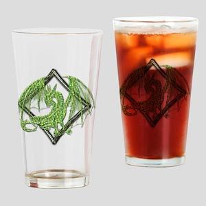 Green Dragon on Diamond Drinking Glass