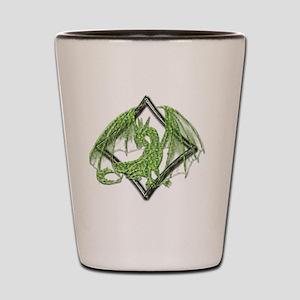 Green Dragon on Diamond Shot Glass