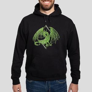 Green Dragon on Diamond Hoodie (dark)