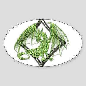 Green Dragon on Diamond Sticker