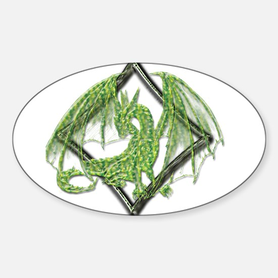 Green Dragon on Diamond Decal