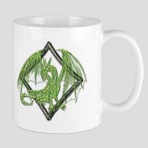 Green Dragon on Diamond Mugs