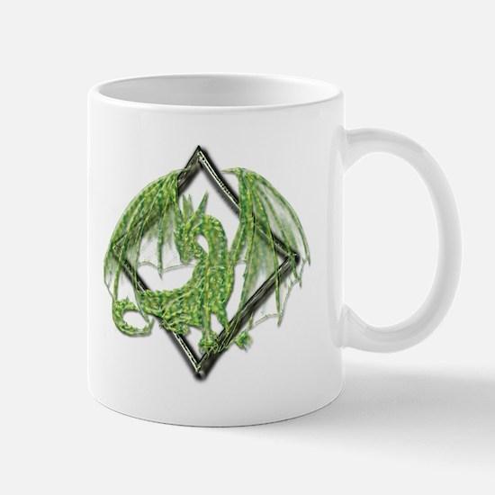 Green Dragon on Diamond Mugs
