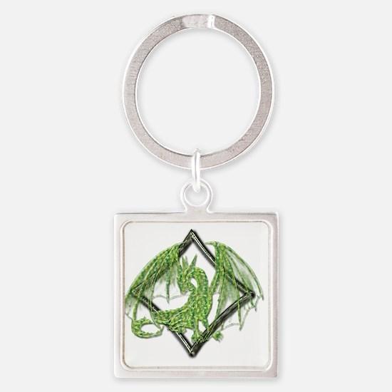 Green Dragon on Diamond Keychains