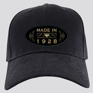 1928 Birth Year Black Cap with Patch