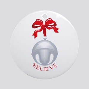 Silver Bell Christmas Ornament (Round)