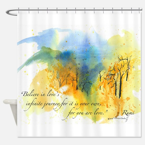 Rumi Rocky Knob Shower Curtain