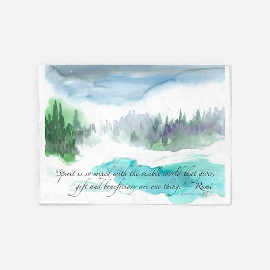 Rumi Winter 5'x7'Area Rug