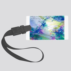 Rumi Spring Water Luggage Tag