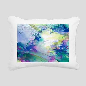 Rumi Spring Water Rectangular Canvas Pillow