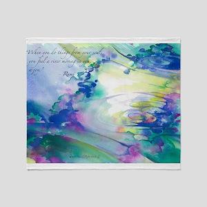 Rumi Spring Water Throw Blanket