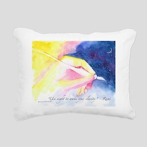 Rumi Dream Messages Rectangular Canvas Pillow