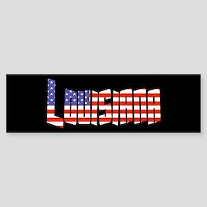 Patriotic Louisiana Bumper Sticker
