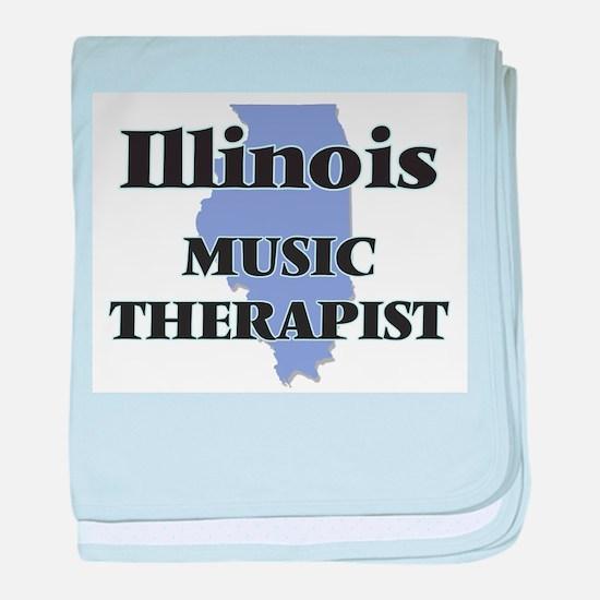 Illinois Music Therapist baby blanket