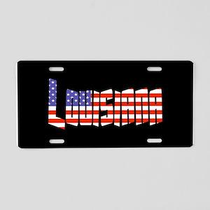 Patriotic Louisiana Aluminum License Plate