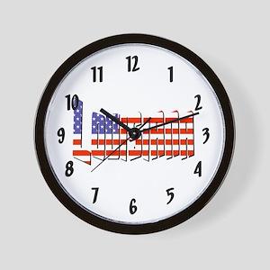 Patriotic Louisiana Wall Clock
