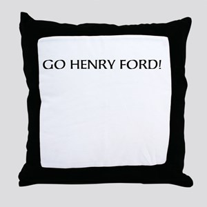 Henry Ford:American Badass Throw Pillow