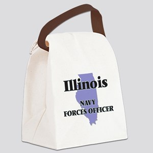 Illinois Navy Forces Officer Canvas Lunch Bag