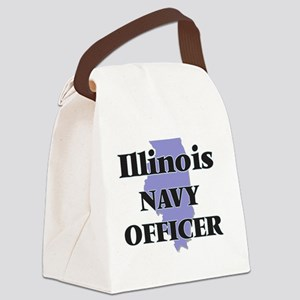 Illinois Navy Officer Canvas Lunch Bag