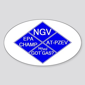 CNG NGV Oval Sticker