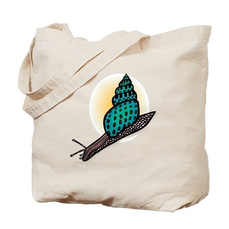 Pretty Turquoise Snail Tote Bag
