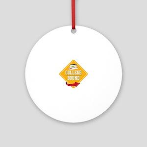 College Bound Round Ornament