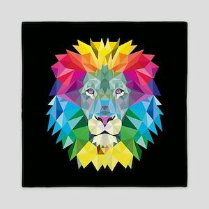 Rainbow Lion Queen Duvet