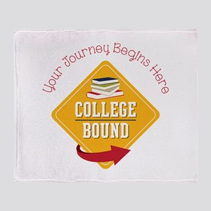 Journey Begins Throw Blanket