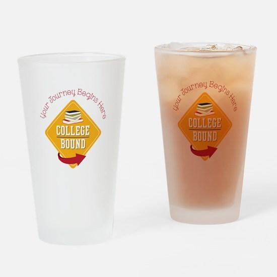 Journey Begins Drinking Glass