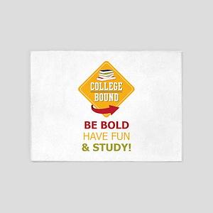 College Bound Fun 5'x7'Area Rug