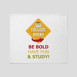 College Bound Fun Throw Blanket