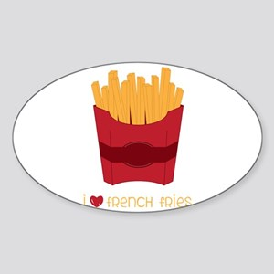 Love French Fries Sticker