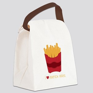 Love French Fries Canvas Lunch Bag