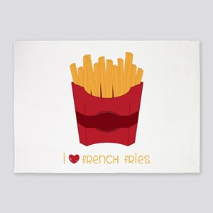 Love French Fries 5'x7'Area Rug