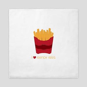 Love French Fries Queen Duvet
